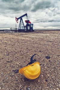 Injury Involving hard Hat at Oil Rig in the field