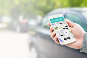 Rideshare Woman Rating After Accident