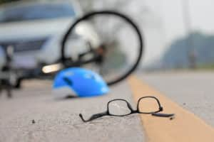 Bikers hit by cars